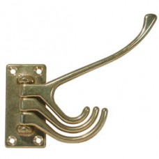 Chrome 4 part coat hook